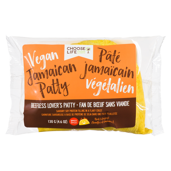 Choose Life Foods Spicy Beefless Lover's Jamaican Patty - 130g