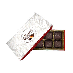Cocomels Sea Salt Chocolate Square Holiday Gift Box - 112g