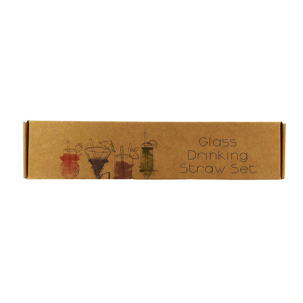 CoupleDots Glass Drinking Straws - 8 Straws
