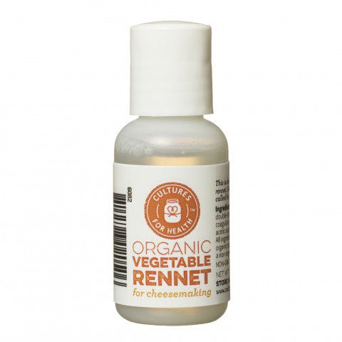 Cultures For Health Organic Liquid Vegetable Rennet - 30ml