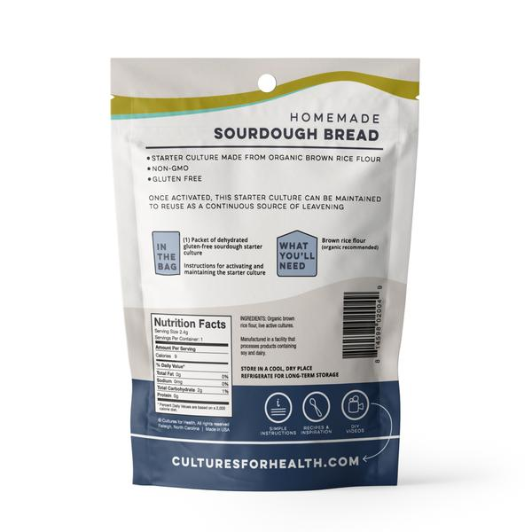 Cultures For Health Gluten-Free Sourdough Starter Single - 2.4g