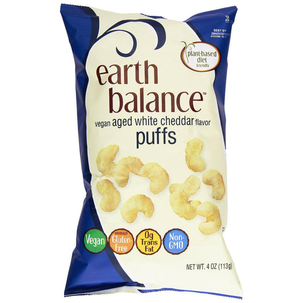 Earth Balance Aged White Cheddar Puffs - 113g