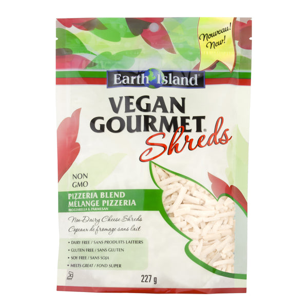 Earth Island Vegan Gourmet Pizzaria Blend Shreds - 227g