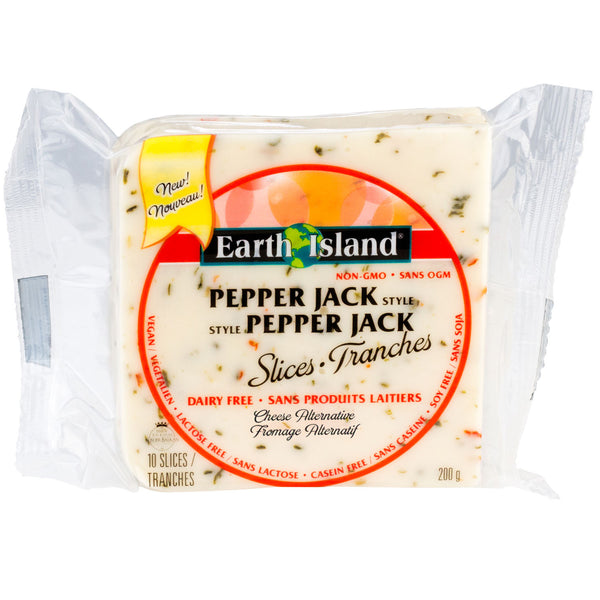 Earth Island Pepper Jack Style Slices - 200g