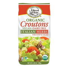Edward & Sons Organic Italian Herbs Croutons - 148g