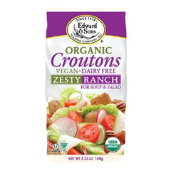Edward & Sons Organic Zesty Ranch Croutons - 148g