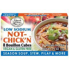 Edward & Sons Low Sodium Not-Chick'n Bouillon Cubes - 72g