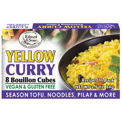 Edward & Sons Yellow Curry Bouillon Cubes - 84g