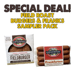 Field Roast Burgers & Franks Sampler - 1x 368g, 1x 340g