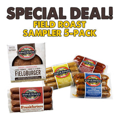 Field Roast 5 Pack Sausages & 1 Burger Sampler - 4x 368g, 1x 340g