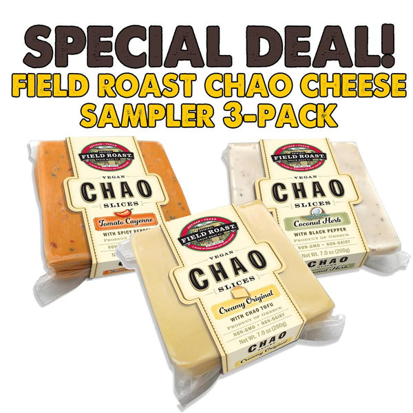 Field Roast Chao Cheese 3-Pack Sampler - 3x 200g