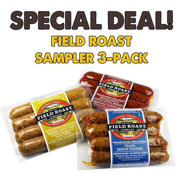 Field Roast Sausages 3 Pack Sampler - 3x 368g