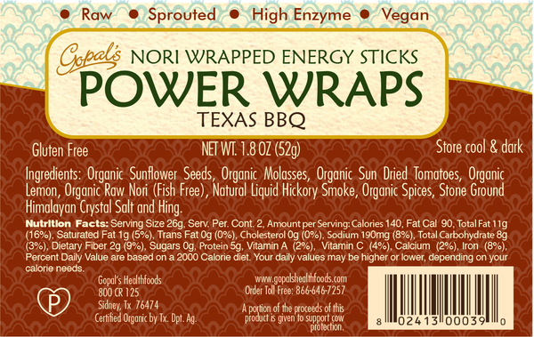 Gopal's Texas BBQ Power Wraps - 52g