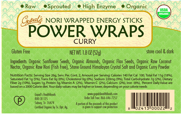 Gopal's Curry Power Wraps - 52g