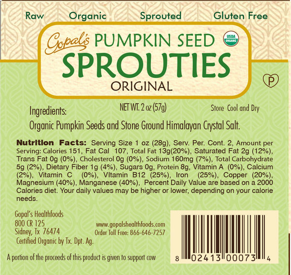 Gopal's Original Pumpkin Seed Sprouties - 57g