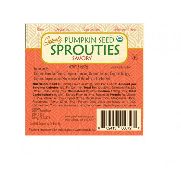 Gopal's Savory Pumpkin Seed Sprouties - 57g