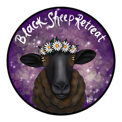 HarmLessBeings 'Black Sheep Retreat' Sticker