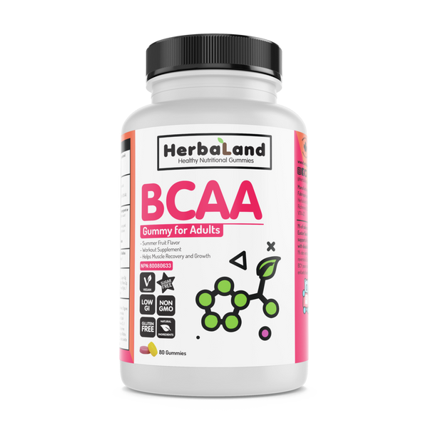 Herbaland Summer Fruit BCAA Gummies - 80 Gummies