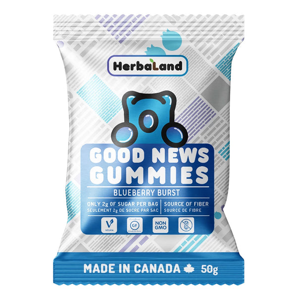Herbaland Blueberry Burst Good News Gummies - 50g