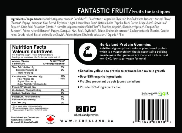 Herbaland Fantastic Fruit Protein Gummy Bag - 600g
