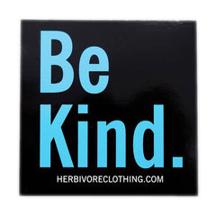 Herbivore 'Be Kind' Black Sticker