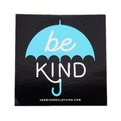 Herbivore 'Be Kind Umbrella' Blue Sticker