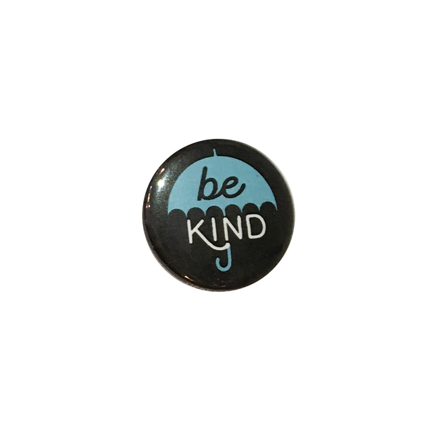 Herbivore 'Be Kind Blue Umbrella' Button - 1""