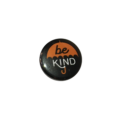 Herbivore 'Be Kind Orange Umbrella' Button - 1""