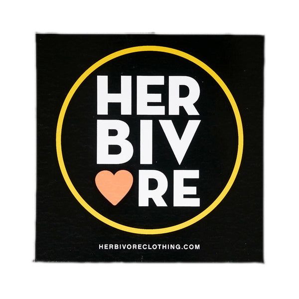 Herbivore 'Herbivore Circle Heart Coral'  Sticker