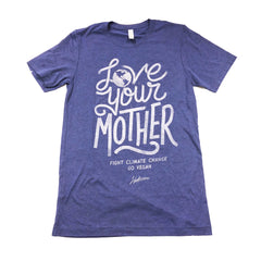Herbivore 'Love Your Mother' Blue Unisex Tee
