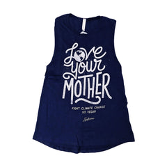 Herbivore 'Love Your Mother' Women's Muscle Tank - Blue