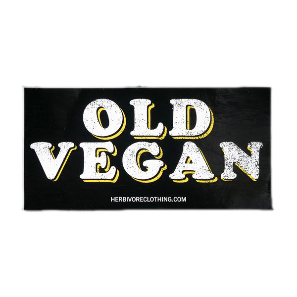 Herbivore 'Old Vegan' White Sticker