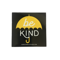 Herbivore 'Be Kind Umbrella' Yellow Sticker