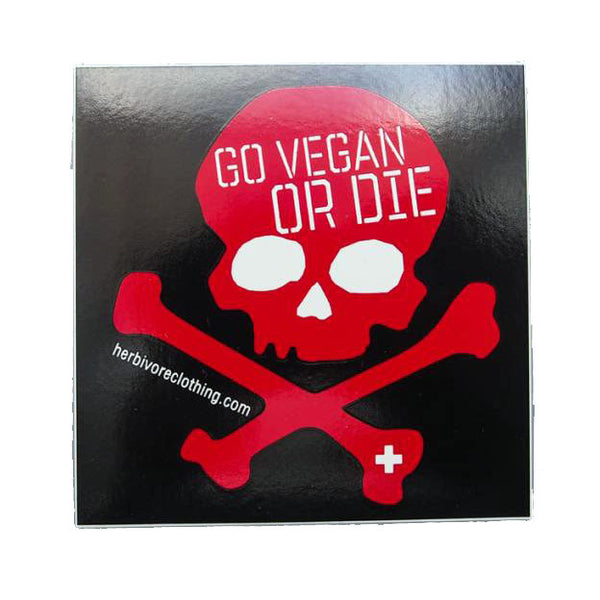 Herbivore 'Go Vegan Or Die' Sticker