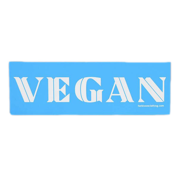 Herbivore 'VEGAN' Blue Bumper Sticker
