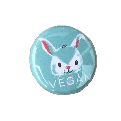 Herbivore 'Vegan Bunny' Button - 1""