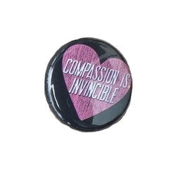 Herbivore 'Compassion Is Invincible' Button - 1""