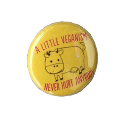 Herbivore 'A Little Veganism Never Hurt Anybody - Cow' Button - 1""