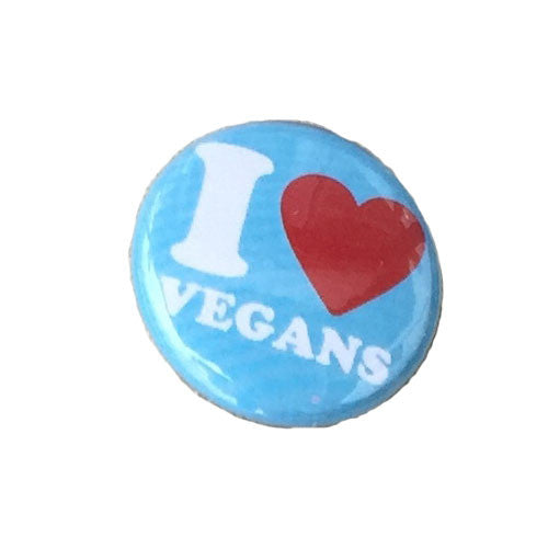 Herbivore 'I Heart Vegans' Button - 1""
