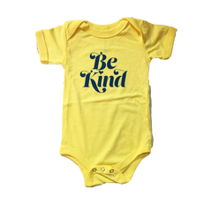 Herbivore Clothing 'Be Kind' Yellow Onesie