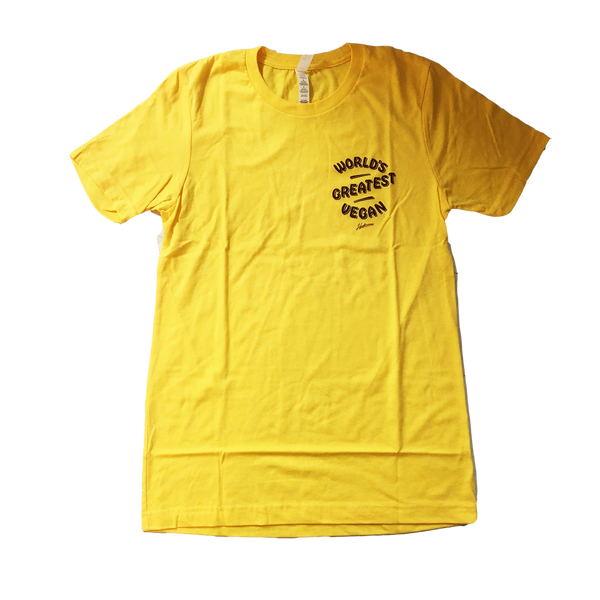 Herbivore Clothing 'World's Greatest Vegan' Yellow Unisex T-Shirt