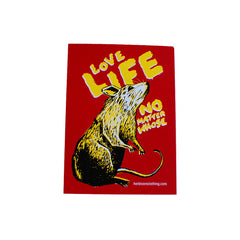 Herbivore 'Love Life - Rat' Sticker