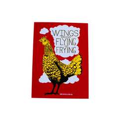 Herbivore 'Wings Are For Flying' Sticker