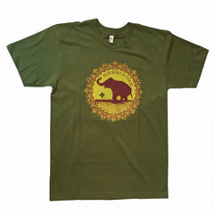 Herbivore Clothing Good Luck Elephant Unisex T-Shirt - Green