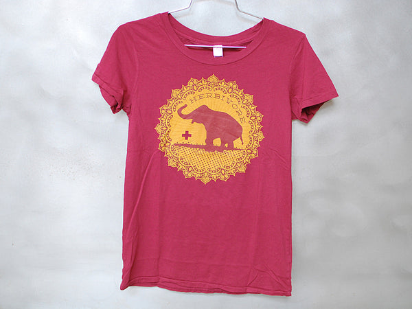 Herbivore Clothing Good Luck Elephant Women's T-Shirt - Red
