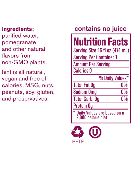 Hint Pomegranate Water - 474ml