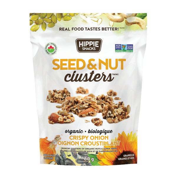 Hippie Snacks Crispy Onion Seed & Nut Clusters - 80g