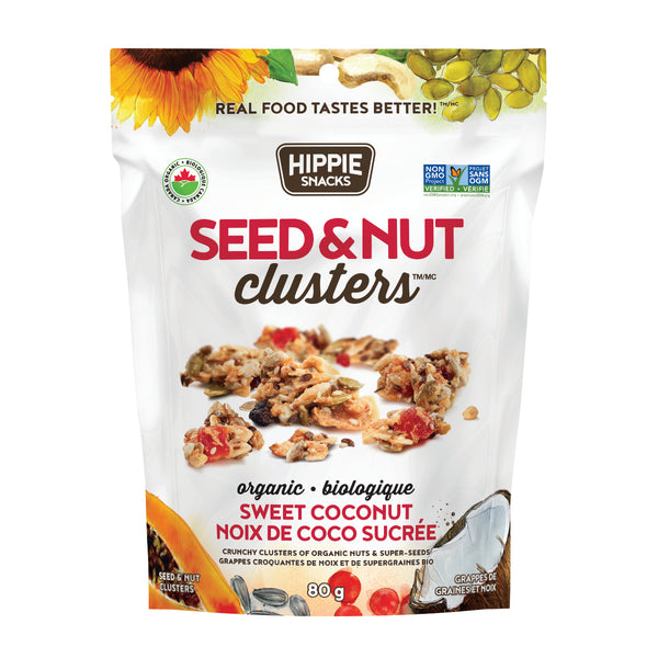 Hippie Snacks Sweet Coconut Seed & Nut Clusters - 80g