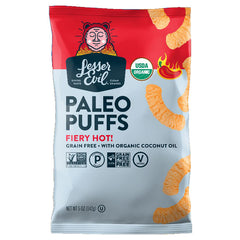 Lesser Evil Fiery Hot Paleo Puffs - 142g