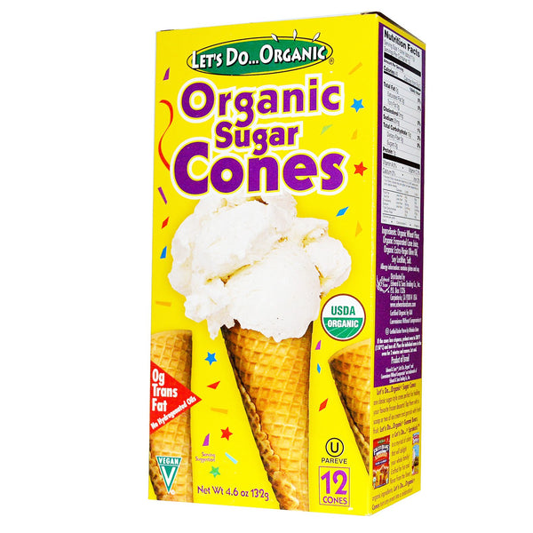 Let's Do Organic Sugar Cones - 132g